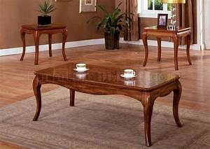 cm4438 palm coast coffee table 2 end tables 3pc set in oak With coastal coffee table sets