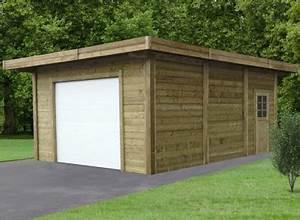 Garage Bois 20m2 : garage en bois trait avec double entr e 35 m ~ Melissatoandfro.com Idées de Décoration