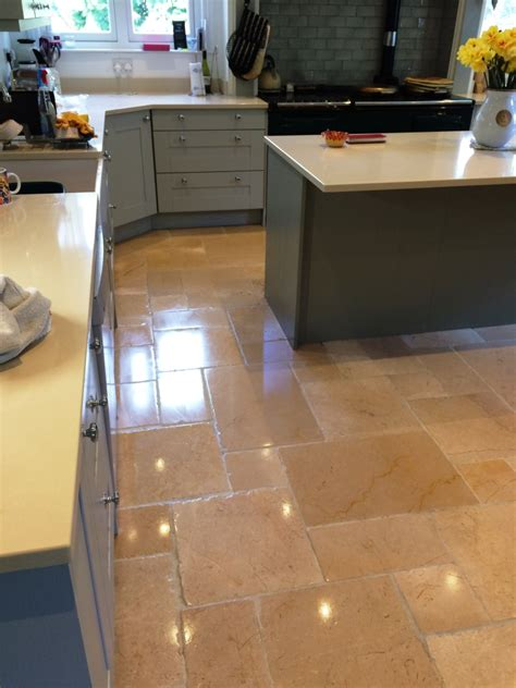 cleaning limestone floors kitchen putting the back into limestone floor tiles 5458