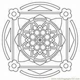 Coloring Pages Mandala Printable Square Circle Mandalas Print Shapes Designs Mandelas Mandela Sheets Colors Adult Coloringpages101 Doodle Colorear Para Visit sketch template