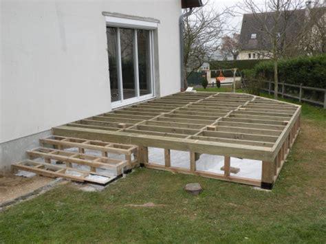 construction terrasse en bois sur pilotis terrasse en bois
