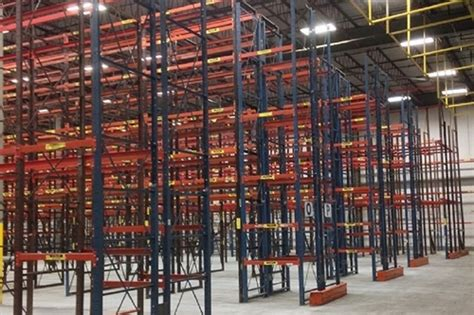 frazier style structural pallet rack