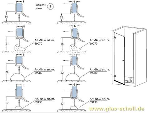 glas scholl webshop unteres wasserabweisprofil mm