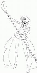 Saturn Sailor Coloring Line Eternal Popular Library Clipart Coloringhome Deviantart sketch template