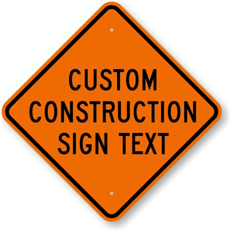Custom Construction Signs  Free Shipping From. Road Work Signs. Fancy Blank Labels. Unique Event Signs Of Stroke. School Spirit Murals