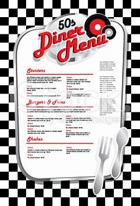 50's diner menu templates free download - Google Search ...