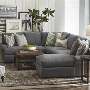 livingroom sectionals sutton u shape sectional sofa living room bassett furniture