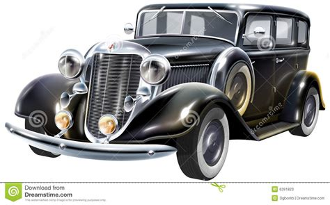 The Favorite Gangsters Car Stock Illustration. Image Of