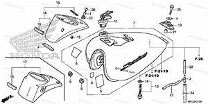 Honda Motorcycle 2011 Oem Parts Diagram For Fuel Tank