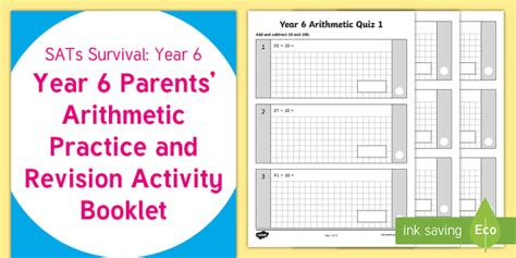 sats survival year 6 parents arithmetic practice and revision