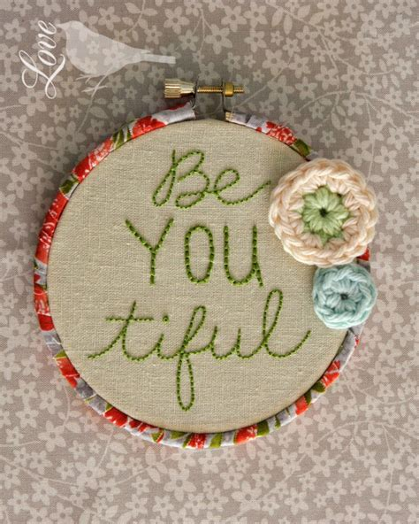 embroidery hoop fabric bird hoops wrapped ways finish crochet laura tutorial tape crafts finishing maxell