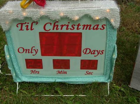 countdown to christmas snowman lighted digital clock yard