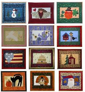 Full Set of Monthly Mini Quilts by Patchwork & Paint