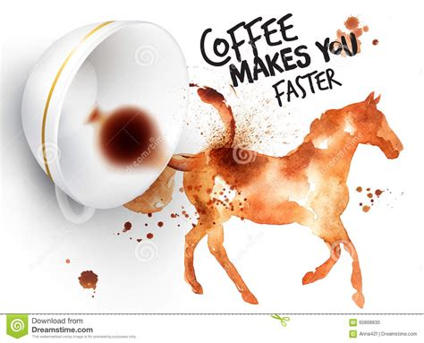Poster Wild Coffee Horse Stock Illustration Hipster Coffee Puns Pocket Summer Cake Club Prezzo Ingrosso Hole Jig Table Story Behind Starfish And Rook Email