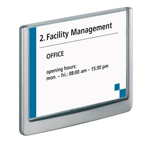 porte nom bureau durable plaque de porte click sign format a6 paysage