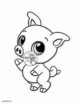 Coloring Pages Pig Animals Preschool Sheets Printable sketch template