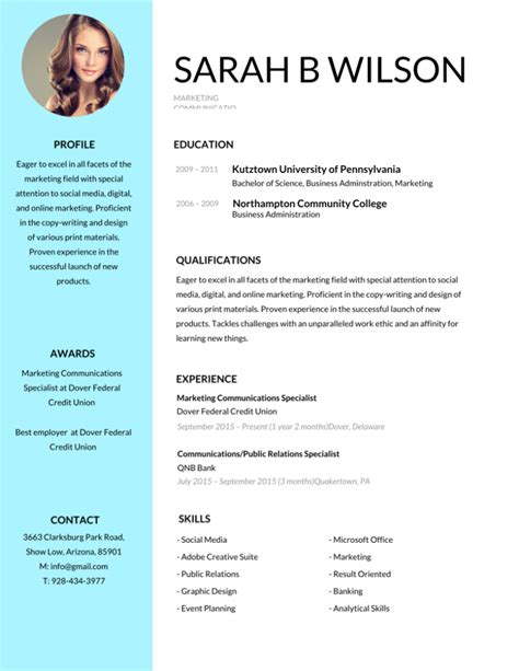 Resume Template by 50 Most Professional Editable Resume Templates For
