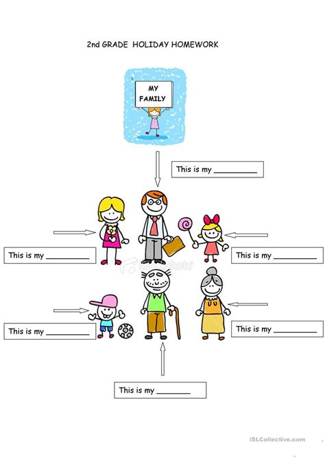 family members worksheet for preschool the best and most