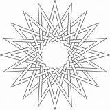 Coloring Complex Pages Adult Geometric Printable Lds Flower Star Pattern Children Printables Doodles Thesunflowerpages sketch template