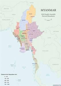 Myanmar Kaart Kaart 2018