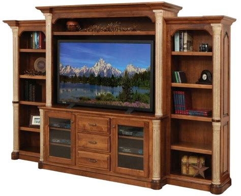 jefferson solid wood entertainment center from