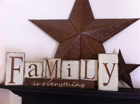 Family Wood Block Letters