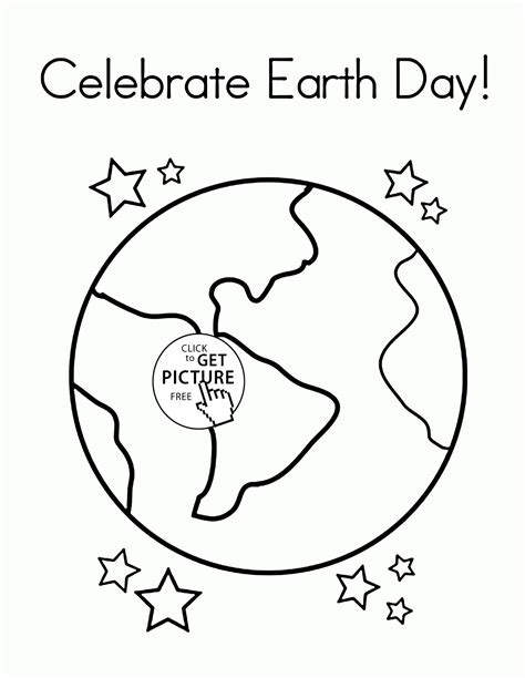 Beautiful Planet Earth Earth Day Coloring Page For Kids
