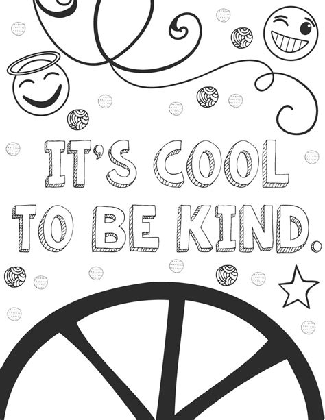 kindness coloring pages  sample page art  basic