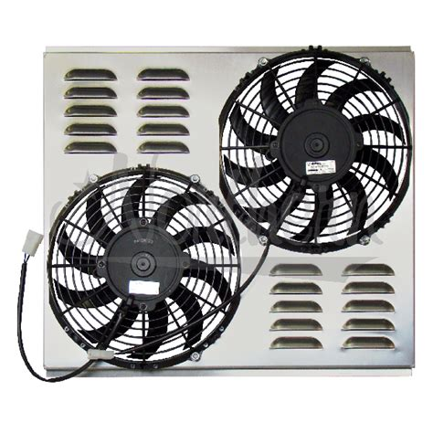dual electric fans with shroud northern factory dual 10 quot electric fan shroud 17 3 8