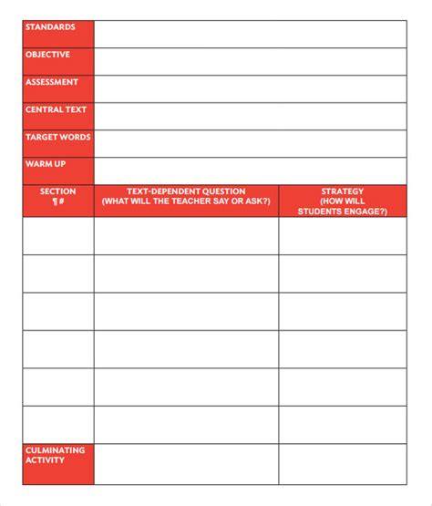 sample guided reading lesson plan  documents   word