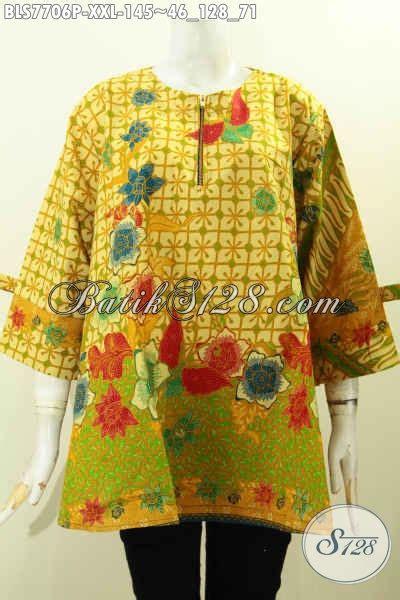 baju batik big size wanita blus batik wanita gemuk model