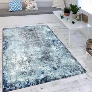 Teppich Shabby Chic : wohnzimmer teppich indigo blau trend modern maritimer stil shabby chic design teppiche kurzflor ~ Buech-reservation.com Haus und Dekorationen