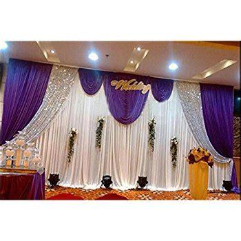 window curtain rods amazon com lb wedding stage decorations backdrop