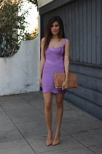Purple Bandage Dress Sazan