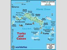 Turks and Caicos Map Geography of Turks and Caicos Map