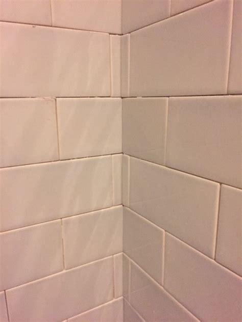 Tiling Inside Corners With Subway Tile by Bathroom Tile Inside Corner Disaster