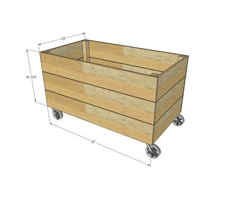 simple cedar wooden toy box ana white