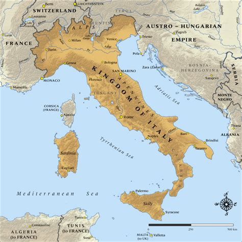 map   kingdom  italy   nzhistory