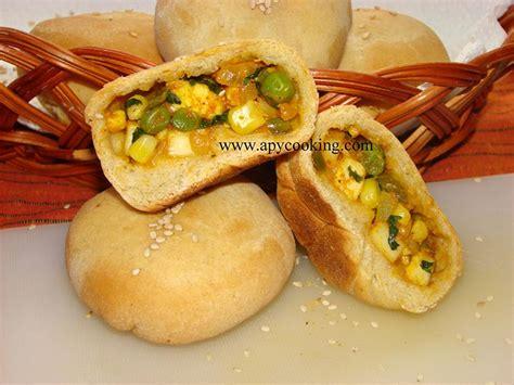 paneer stuffed bun manjulas kitchen indian vegetarian
