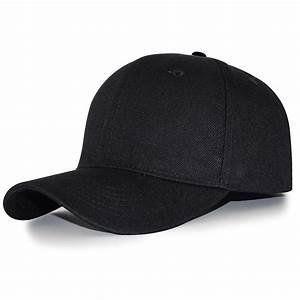 adjustable size hats color blank curved plain