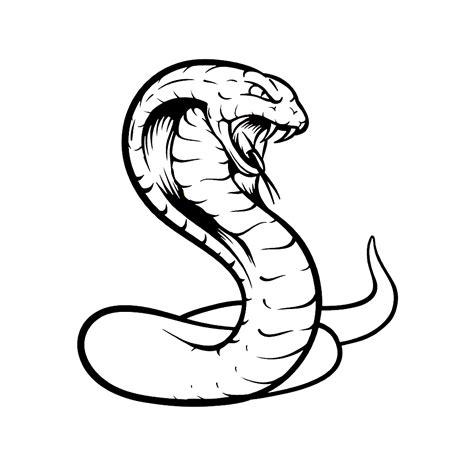 Cobra Slang Kleurplaat leuk voor een cobra