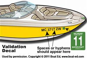 michigan boat registration decals With coast guard boat documentation fees