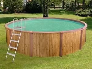 Piscine Hors Sol Acier Imitation Bois : piscine aspect bois acier ronde freedom x m ~ Dailycaller-alerts.com Idées de Décoration