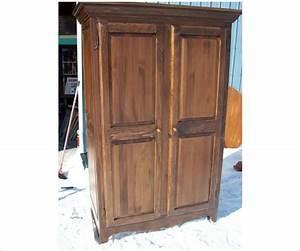 Armoire Deux Portes : armoire deux portes en pin massif ~ Teatrodelosmanantiales.com Idées de Décoration