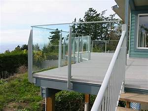 Mirage Post Topless Tempered Glass Railing System