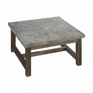 Home Styles 5133-21 Concrete Chic Square Coffee Table