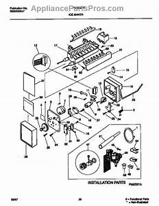 Parts For Frigidaire Frs26zrfw3  Ice Maker Parts
