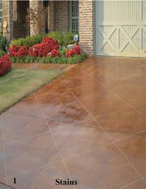 concrete acid staining driveways pools patios astro crete