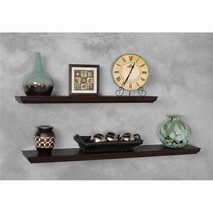 White Floating Shelf, 8 X 36 X 1 75 Inches Woodland