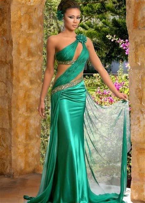 bright green  dark green wedding dress designs